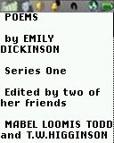 Poems - Dickenson