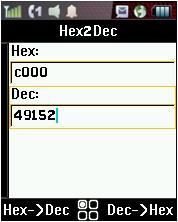 Hex2Dec