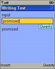 Writing Test